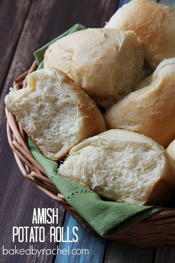 Pommes de terre Amish Rolls Recette de bakedbyrachel.com Les petits pains doux et moelleux parfait qui sont plein de saveur et facile à faire!