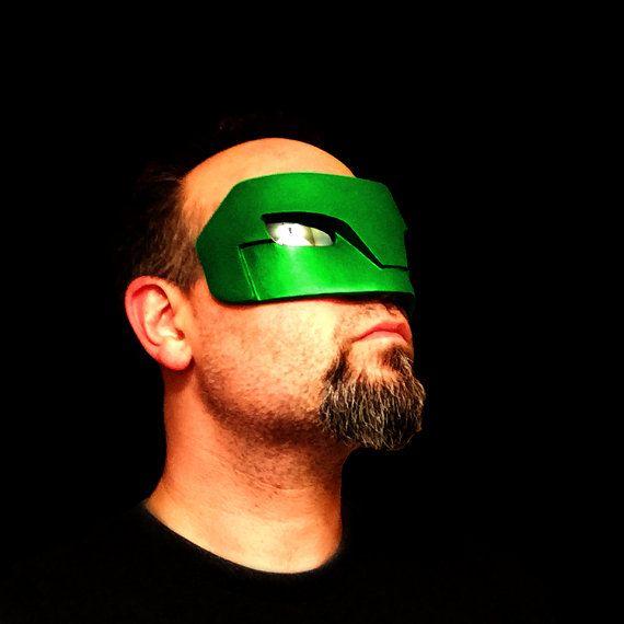 Kyle Rayner Green Lantern superhéroe Traje Cosplay ojo máscara con lentes!!