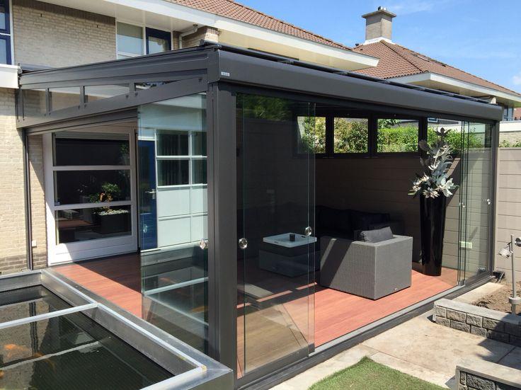 17 best images about terrasoverkappingen on pinterest gardens tuin and home - Aluminium pergola met schuifdeksel ...