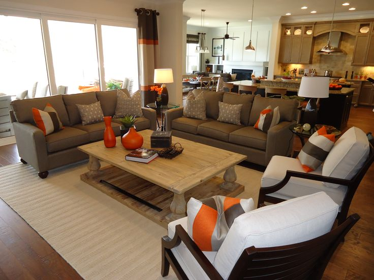 Great room furniture layout couch love seat and chairs for Great room home designs