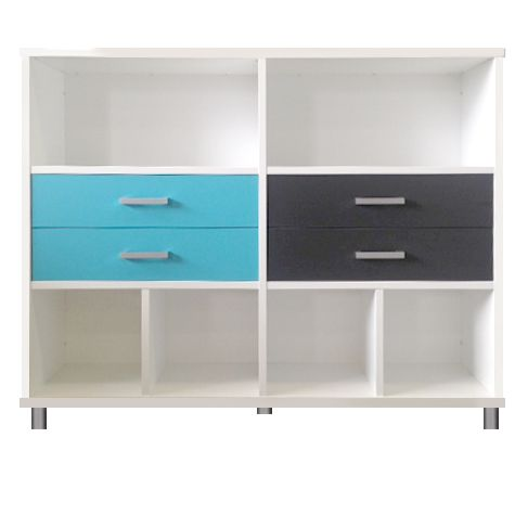 12 Cube in Snowdrift with Caribbean and Carbon Drawers <3