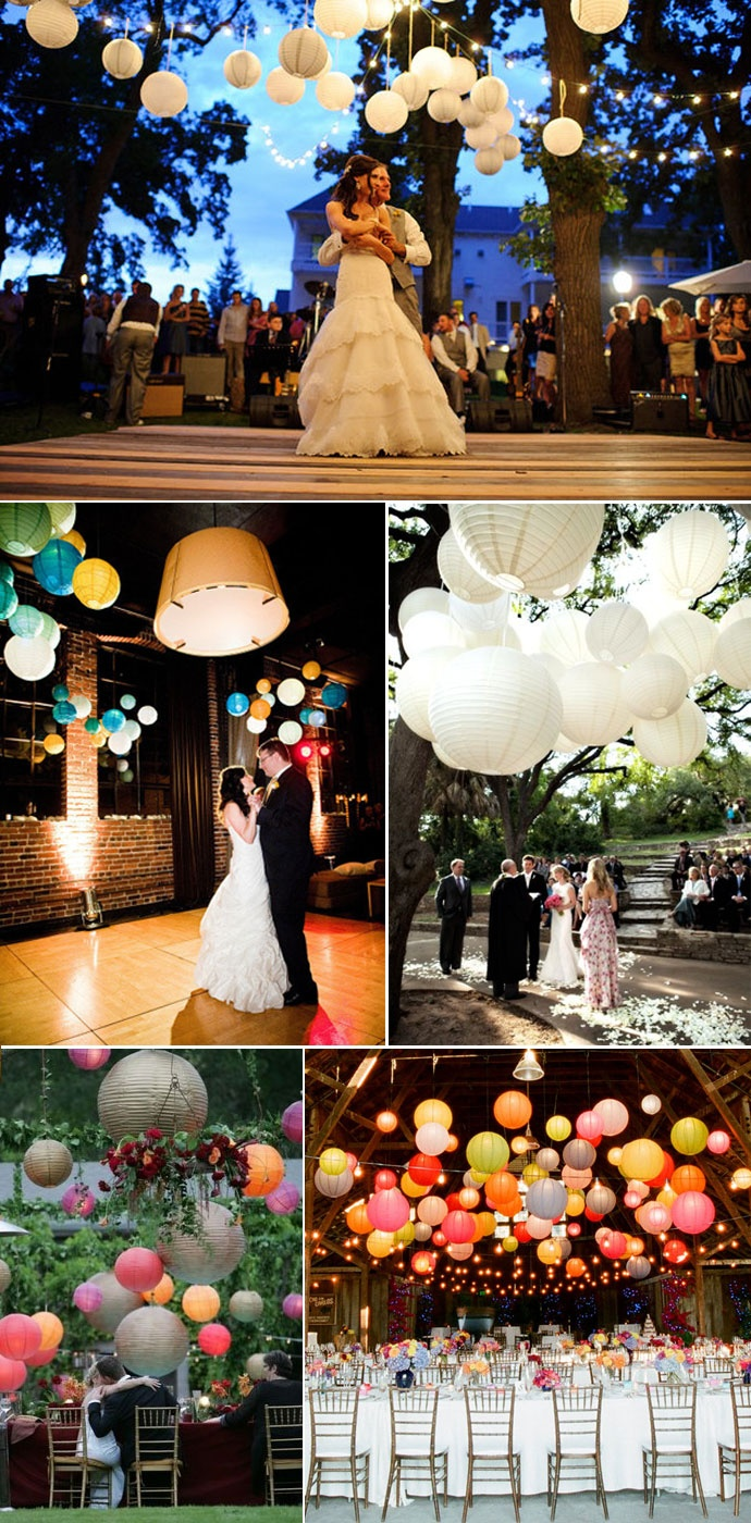 Decoracion con globos de papel the big day d for Farolillos de decoracion