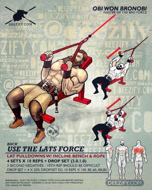 back exercise: lat pulldowns rope obi wan kenobi