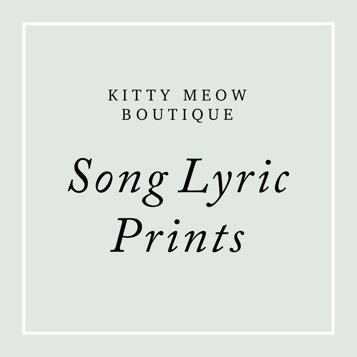 68 best Song Lyric Art Prints images on Pinterest | Lyric art ...