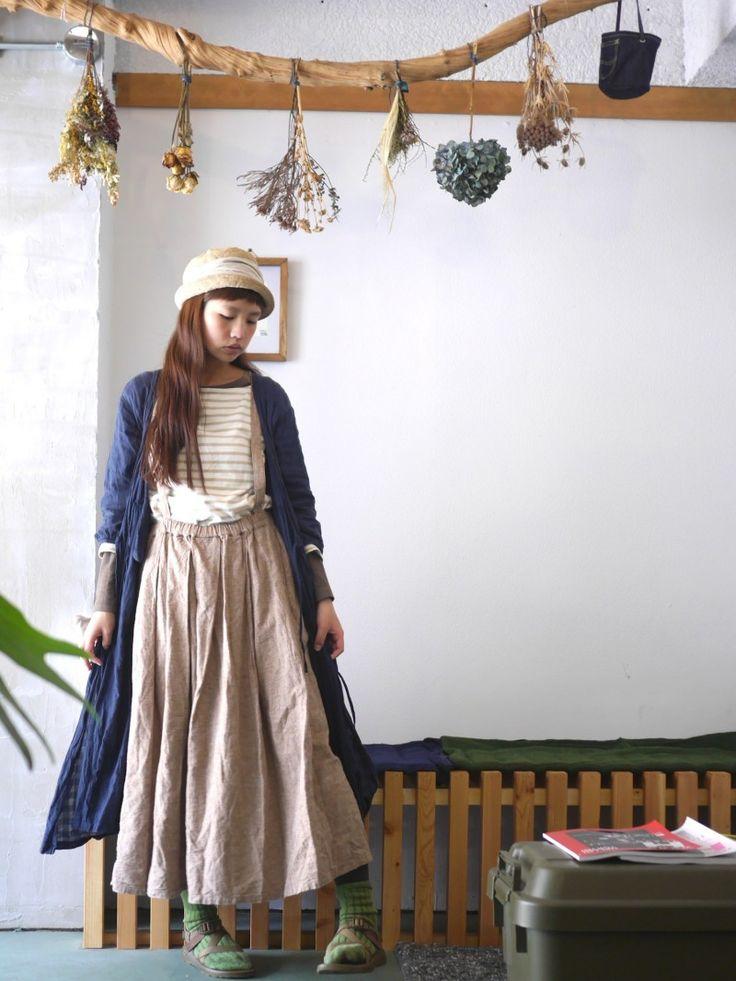 Eerbare kleding. Modest clothing. Japanese mori style.