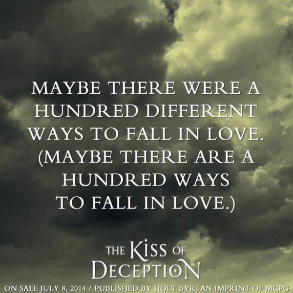 Quote From THE KISS OF DECEPTION By Mary E Pearson Favorite YA Best Deception Love Quotes