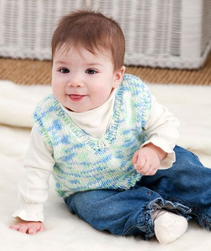 Let's Play Knit Vest Knitting Pattern | Red Heart