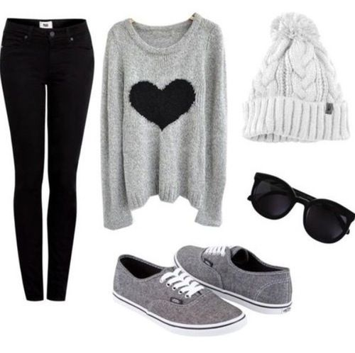 Monochrome of sweater I have. Think I'll get the shoes not the hat