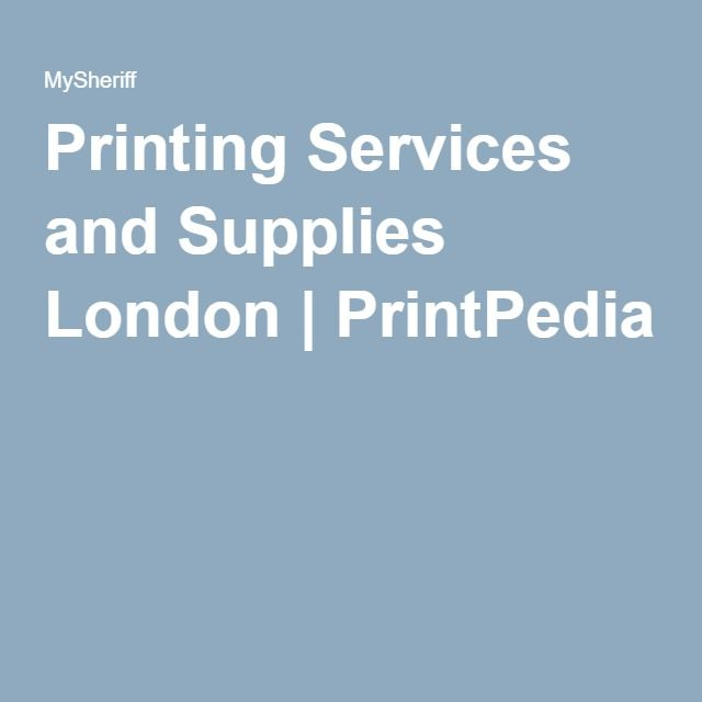 Printing Services and Supplies London | PrintPedia Visit Us At http;//printpedia.co.uk