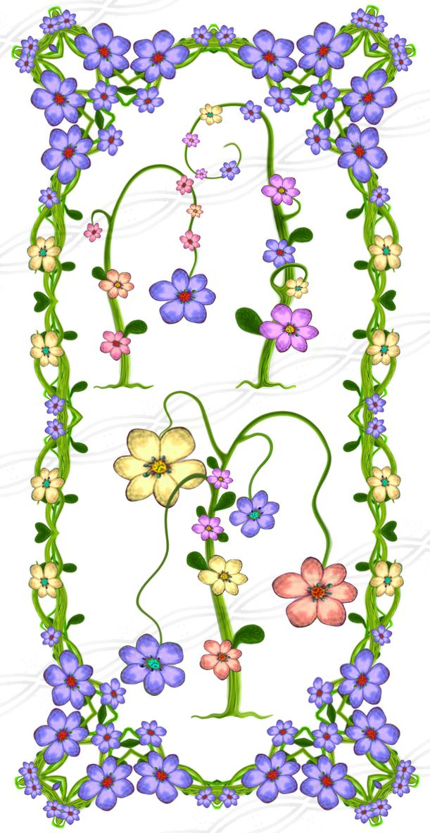 Digital flower frames and borders - commercial use for print - floral clipart drawing decoration - wedding card invitation - pink - purple - party - girl - baby shower. https://www.etsy.com/il-en/listing/236963888/instant-download-png-flower-frame?ref=shop_home_active_6