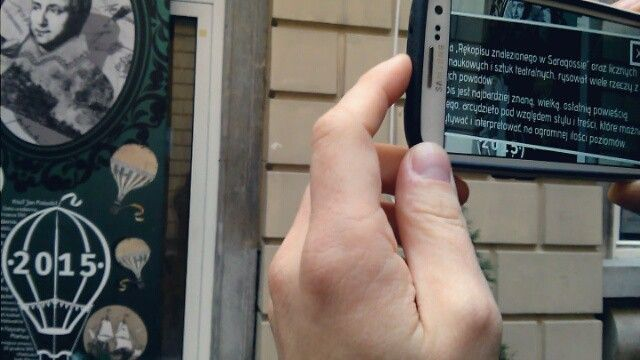 #augmentedreality #virtualreality #app #janpotocki #rokjanapotockiego2015 #kraków #palacpodbaranami #mindhelix