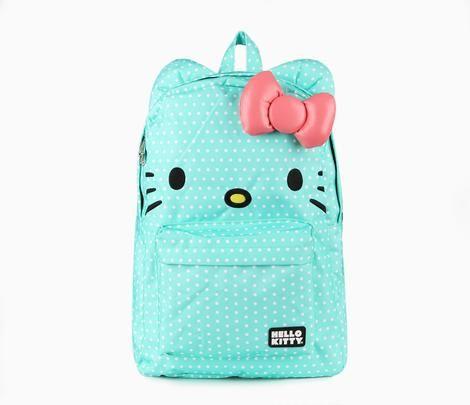 Hello Kitty 3D Backpack: Mint Dot