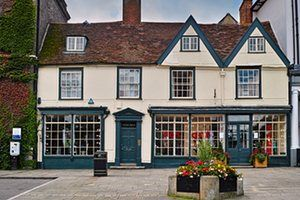 Old town Bury St Edmunds shops in Angel Hill.GettyImages-521946868