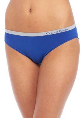 Calvin Klein Women's Pure Seamless Bikini - Qd3545 - Streak - Xl
