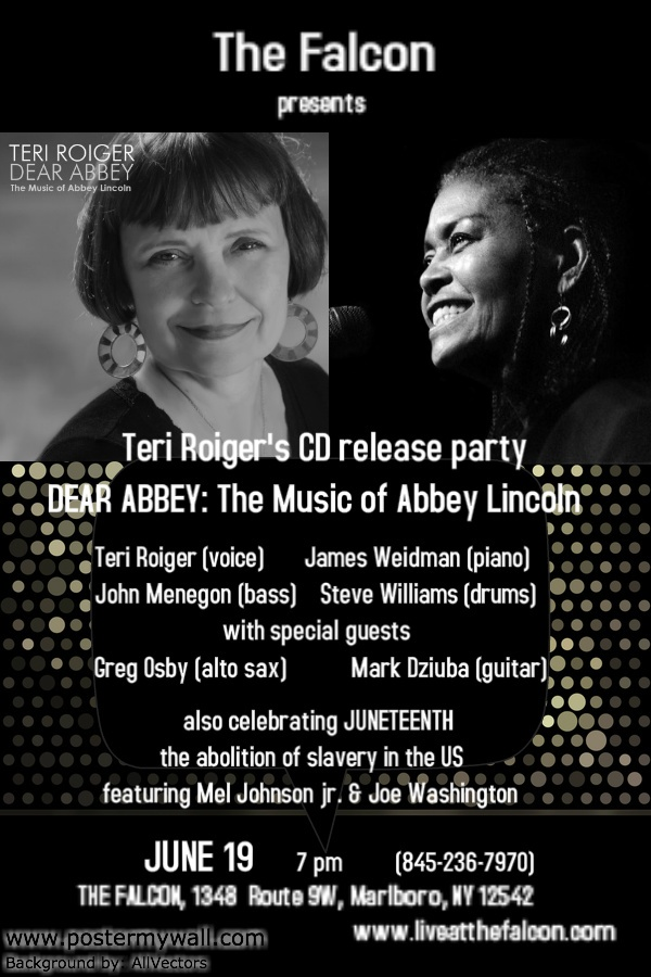 THE FALCON Presents Teri Roigers Upstate CD Release Party For DEAR ABBEY The Music Of