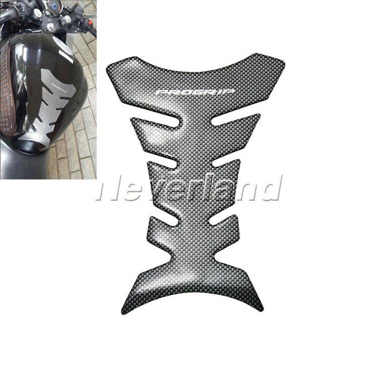 1 pcs serat karbon Tank pad, Tankpad pelindung stiker untuk sepeda motor yang Universal Fishbone Freeshipping D05
