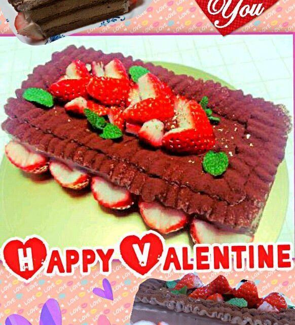 少しはやいバレンタインケーキです(*^^*) 初の長方形のケーキを作りました - 36件のもぐもぐ - バレンタイン♡チョコムースケーキ by piyoko21