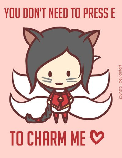 You dont Need to Press E to Charm Me. #LoL Ahri by Jaunea @deviantART