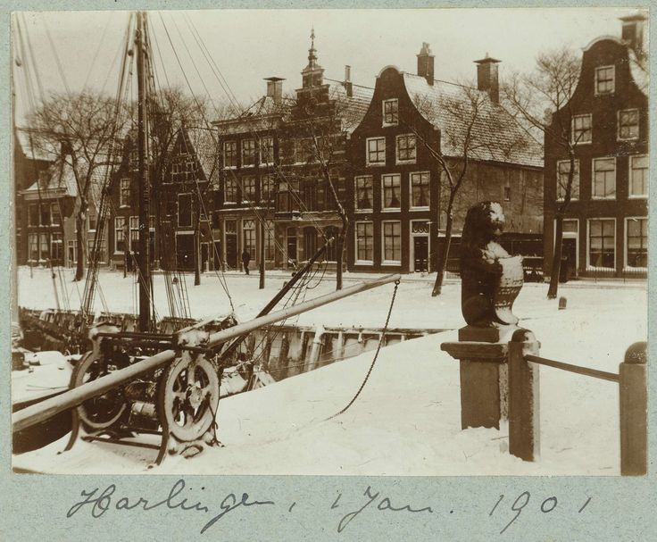 Winters havengezicht, attributed to Frits Fontein Fz., 1901
