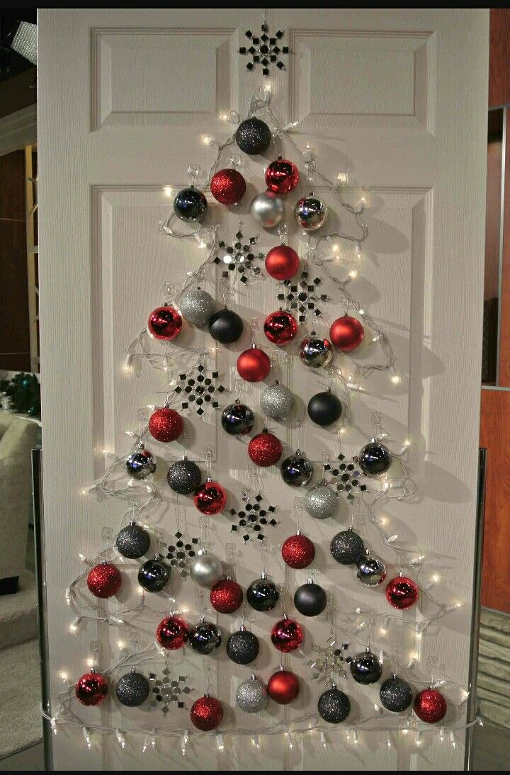 office xmas decoration ideas. Interior, Remarkable Office Christmas Decorating Ideas Wonderful With Colorful Glitter Ball And Snowflake Ornaments Also White Lights On Xmas Decoration A