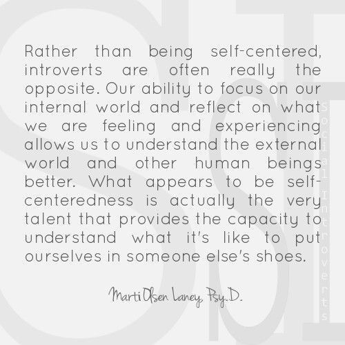 Introverts are not selfish.