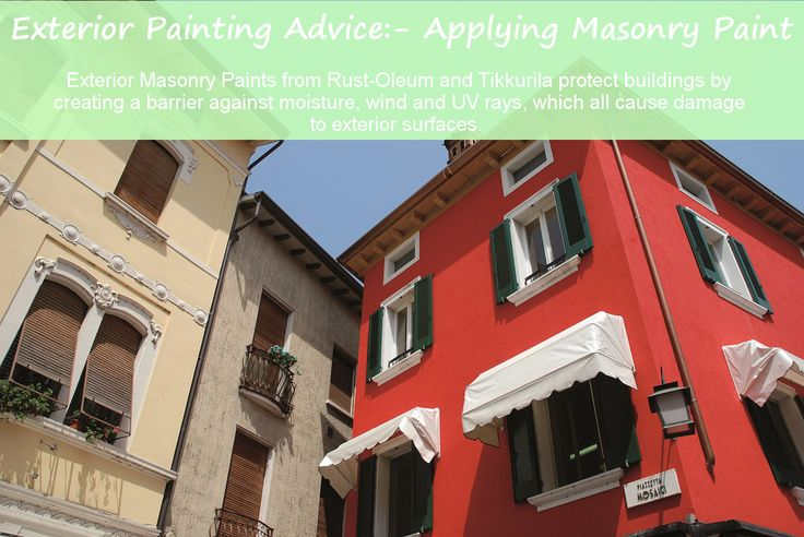 #Painting #exterior walls has two huge benefits… it #colours the surface adding personality and style and protects the building against a number of detrimental environmental factors.  #Exterior #Masonry Paint from #Rust-Oleum and #Tikkurila protect buildings by creating a barrier against moisture, wind and UV rays.