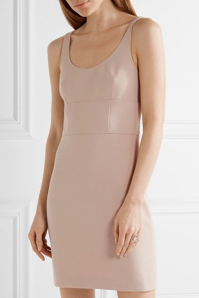 Elizabeth and James - Huette Cutout Stretch-ponte Mini Dress - Taupe - US0