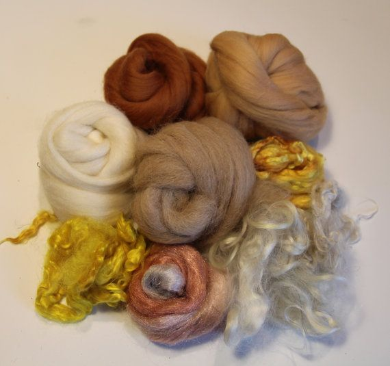 Fibers to spin and felt