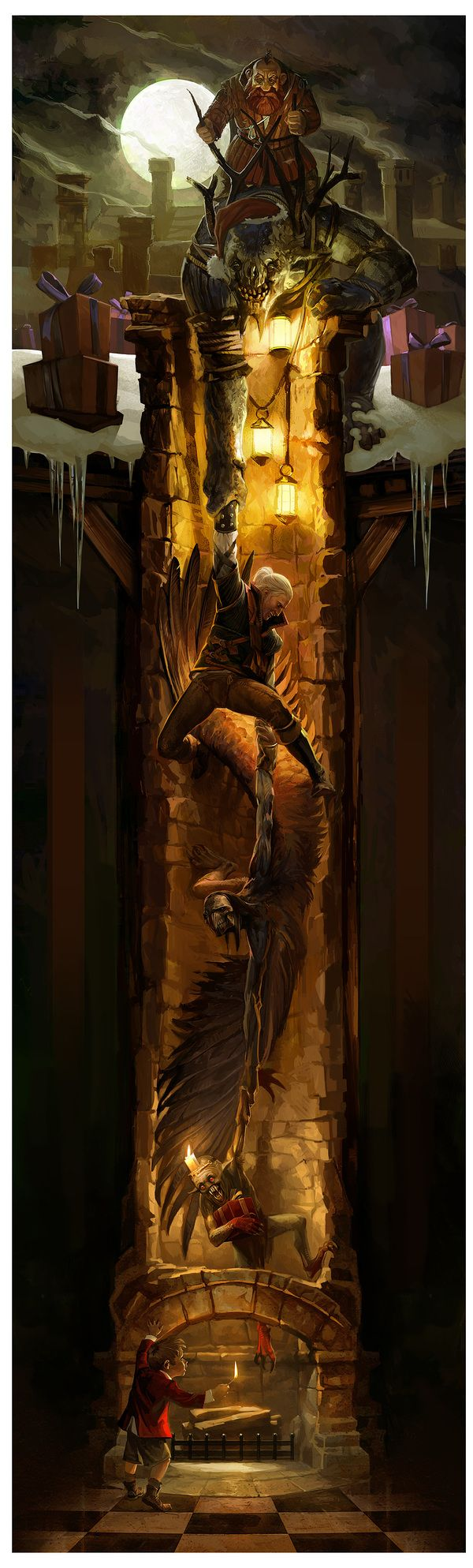 The Witcher Christmas Card 2011 by Bartek Gawel, via Behance