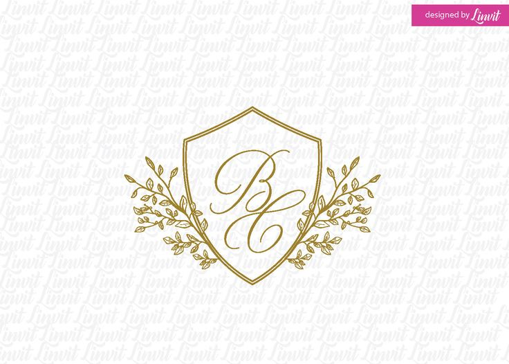 Shield Wedding Logo by Linvit on Etsy
