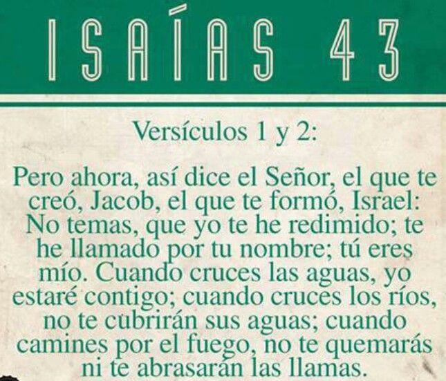 Isaias 43, versículo 1 y2