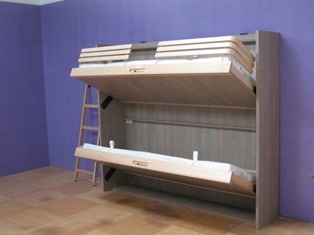 Folding Beds from Griffon Make Reclaimed Space Look Good : TreeHugger