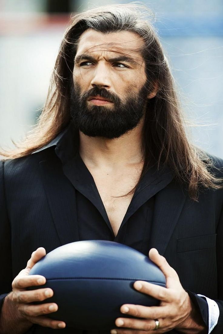 On theme with rugby players, my all time favorite...Sebastien Chabal!!!