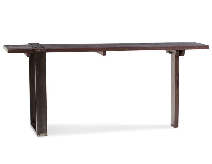 GEORGIA - Solid mango wood and iron desk 71'' - Brown