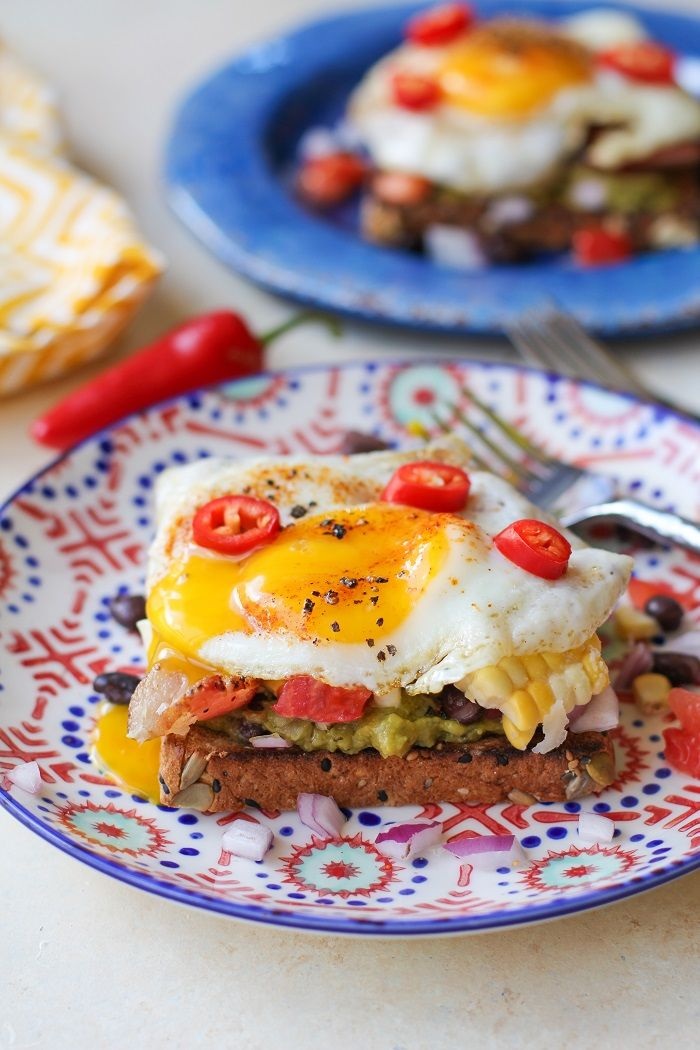 Southwest Breakfast Avocado Toasts
