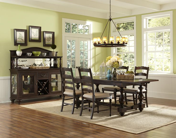 Loren Dining Collection At Brown Squirrel Furniture. Love The Wine Cabinet  And All Chairs . No Bench.
