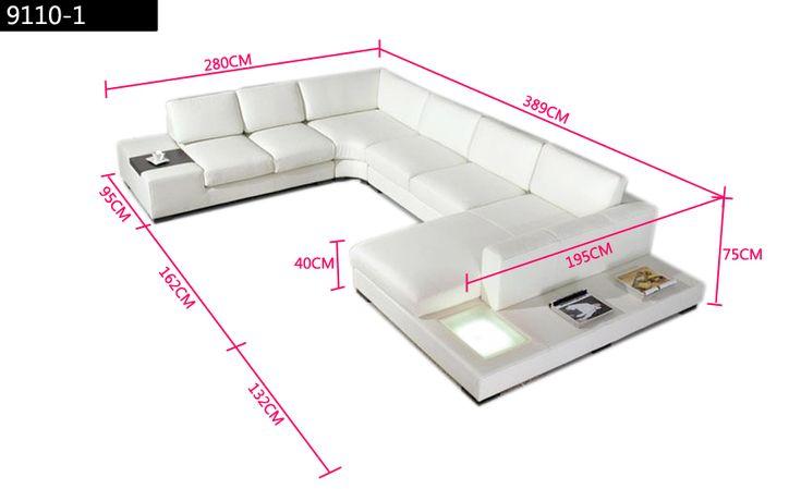 Laest-europeu-grande-tamanho-U-em-forma-de-luz-led-Branco-mesa-de-café-sofá-de.jpg (900×550)