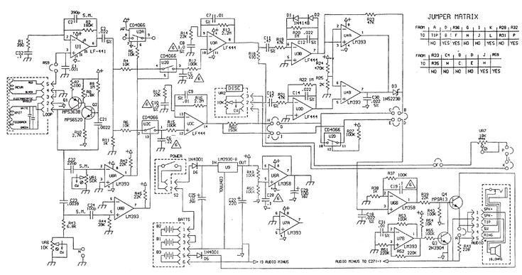Schematic diagram of White's Classic I metal detector