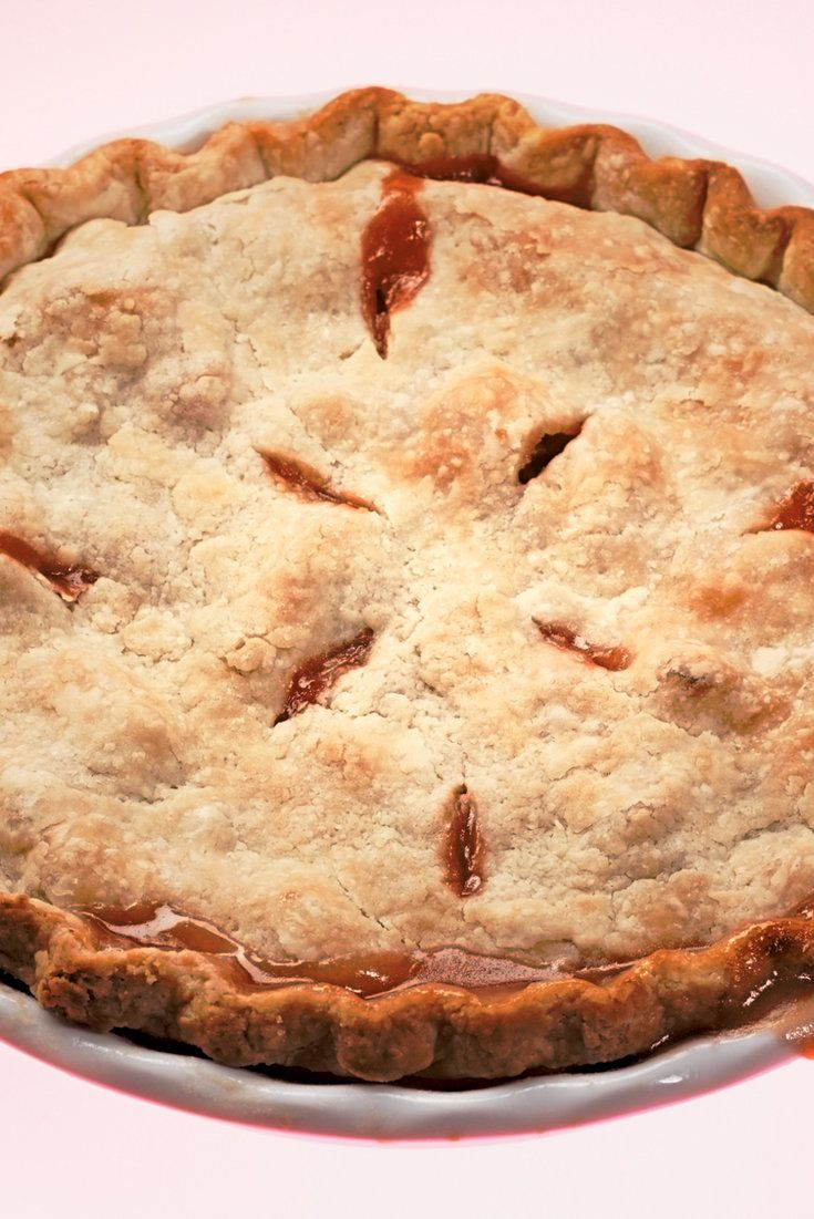 Straight Up Rhubarb Pie by Amanda Hesser, cooking.nytimes: This rhubarb pie contains no distractions, like strawberries The crust is made with shortening ... #Pie #Rhubarb #No_Strawberries