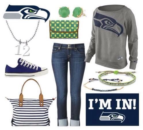 Go Seahawks!  LOVE this for the Superbowl!  Charms & Bracelets with the Green Earrings!  #beveeLife  Perfect with the Navy #Beveebags