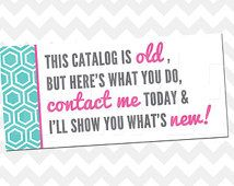 Old Catalog Label - Printable - Origami Owl