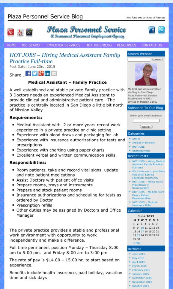 17 Best images about Medical Assistant job opportunities in San ...