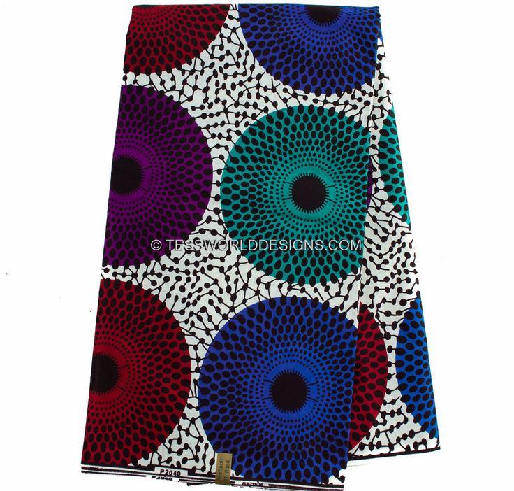 Wholesale Ankara Clothing fabric/Multi colored African Fabric/ Ankara clothing/ Dutch Wax/ African fabric Shop / 6 Yards WP773 by TessWorldDesigns on Etsy