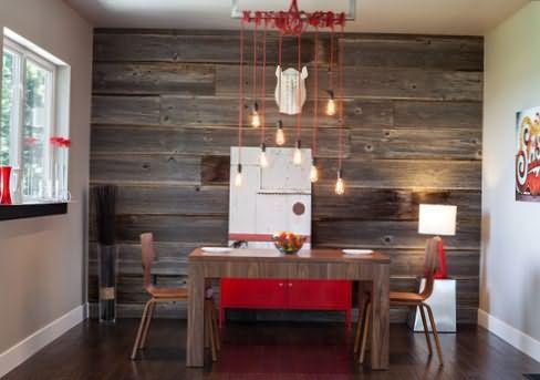 Отделка стен деревом в квартире