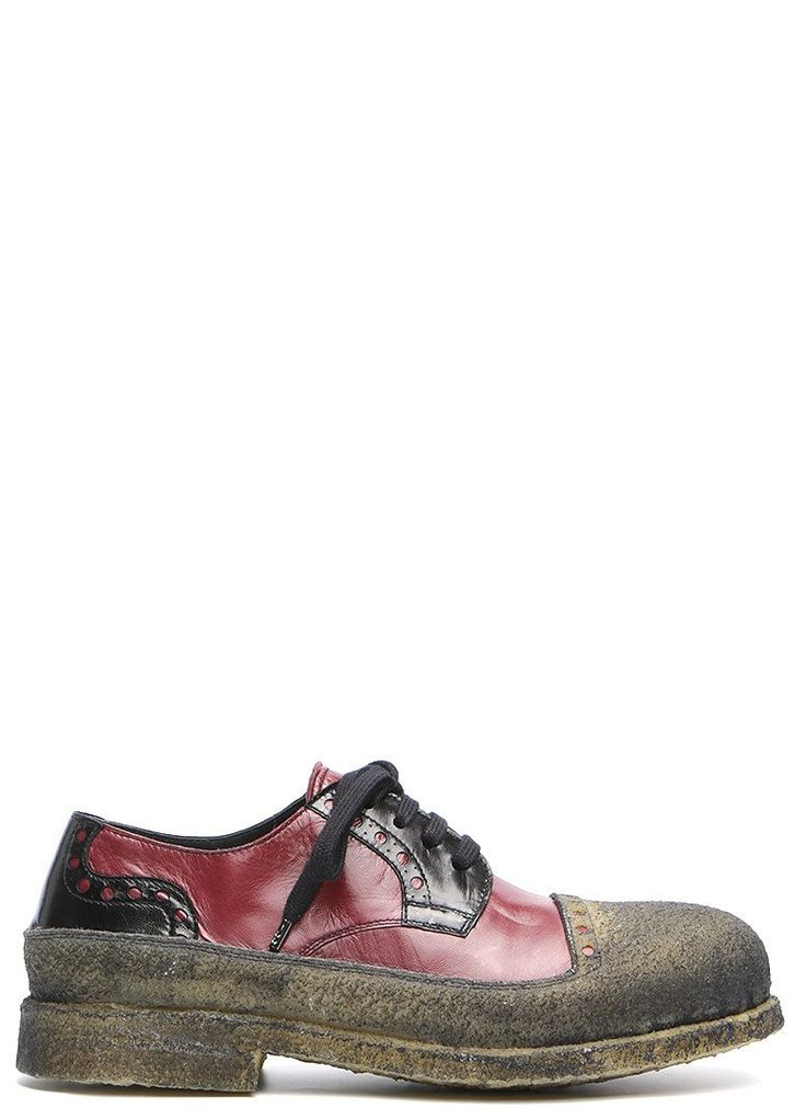 Brushed calfskin leather shoe from Rocco P. A round toe, lace up closure. Partly serrated. Covered in crepe rubber. Hand burnished natural crepe rubber sole and toe. Flexible construction. Water resistant sole. Patented design. Handmade in Torre San Patrizio. Premium class.