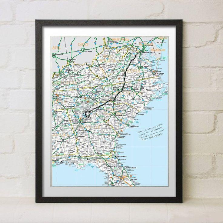 Louisiana Map Alexandria%0A The Walking Dead Replica DC Map Prop Rick Grimes Alexandria Party Gift  Negan Art