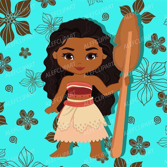 Moana Clipart, Disney Moana, Princess Moana Clipart, Instant