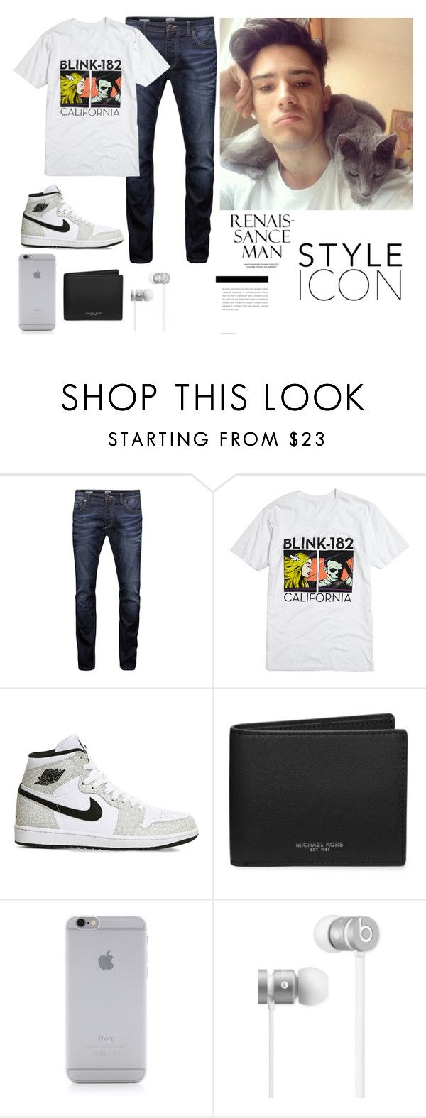 """""""_BLINK_182_"""" by kprzy12 ❤ liked on Polyvore featuring Jack & Jones, NIKE, Michael Kors, Native Union, Beats by Dr. Dre, men's fashion and menswear"""