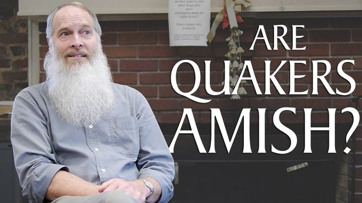 "Are Quakers Amish? | ""You're a Quaker? You mean, like, Amish?"" It's something all Quakers have heard. Max Carter, professor of Quaker religion studies at Guilford College, tells us about the differences between Quakers and the Amish. ▶"