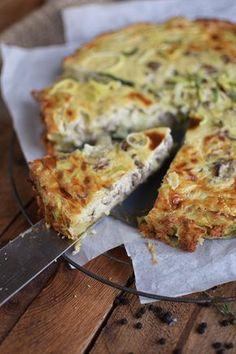 Quiche aus Kartoffel wie Rösti mit Hackfleisch und Lauch gefüllt :) :)
